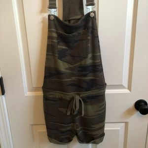 Altar'd state camo short overalls.